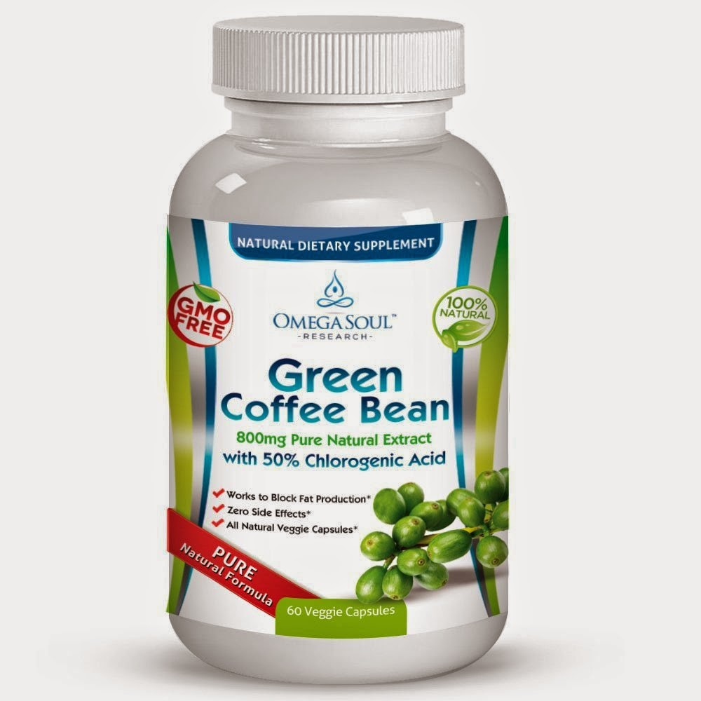 Pure Green Coffee Bean Product Review Pure Green Coffee Bean Extract With 50 Cga 800 Mg Capsule All Natural Premium Quality