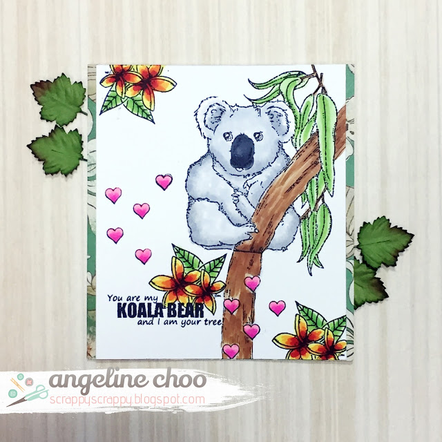 ScrappyScrappy: Down Under - Australia with JLO Stamps #scrappyscrappy #jlostamp #stamp #card #cardmaking #australia #newzealand #downunder #copic #coloring