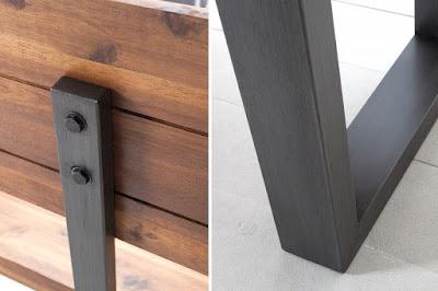 interiérový nábytok Reaction, nábytok z masívu a kovu, masívny nábytok