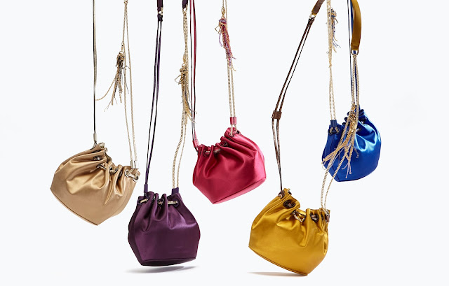 DVF's Love Power Satin Drawstring Bags