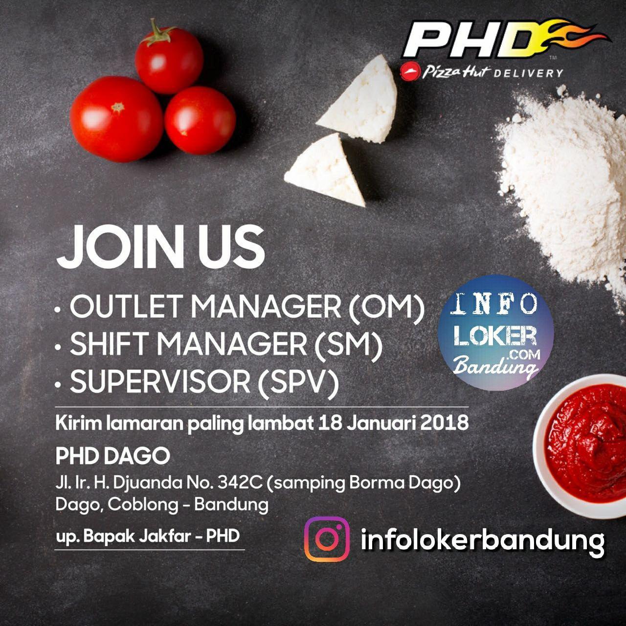 Lowongan Kerja Pizza Hut Delivery Bandung Januari 2018