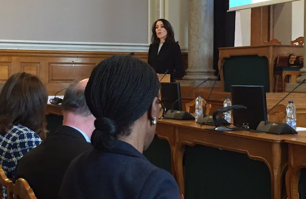 Crown Princess Mary of Denmark attended a conference on humanitarian crisis, sexual and reproductive health and rights at Christianborg Palace.