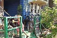 porch with bicycles at Sherwood cooperative