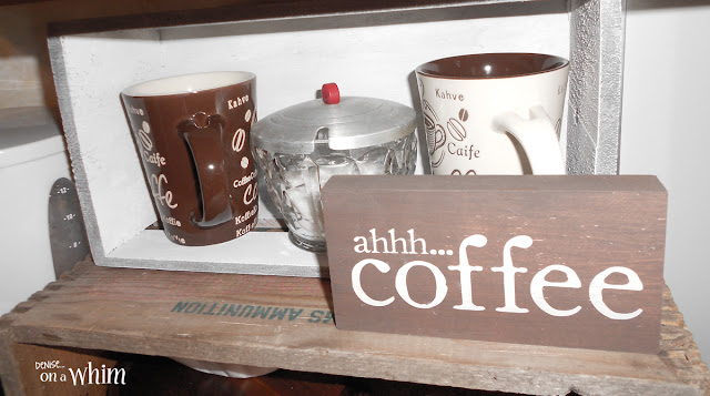Coffee Station Sign and Mug Crate | Denise on a Whim