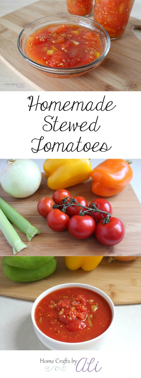 colorful ingredients combine to make and easy stewed tomato recipe