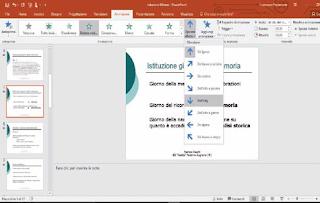 opzioni secondare per personalizzare presentazione powerpoint