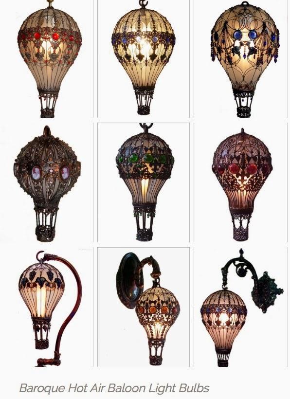 Nag on the Lake: Baroque Hot Air Balloon Light Bulbs
