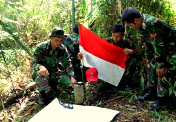 Patok perbatasan RI-Malaysia