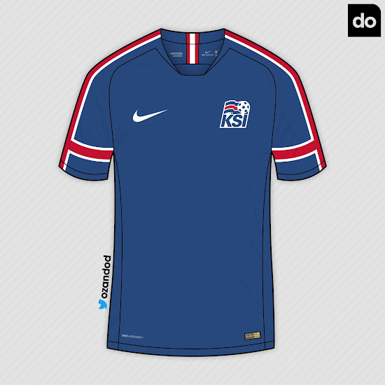 686922c8a12 Nike Iceland 2018 World Cup Home & Away Concept Kits by Ozando ...