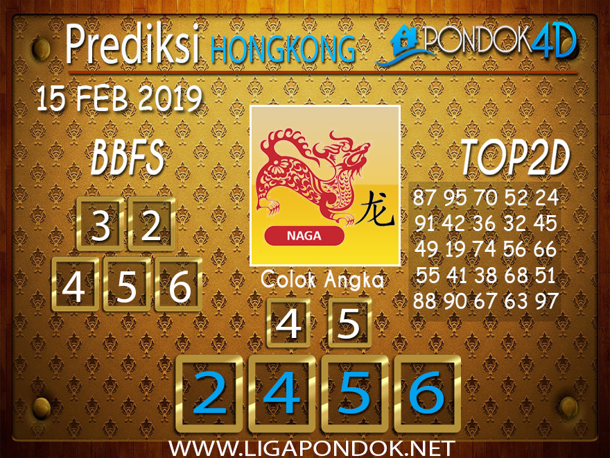 Prediksi Togel HONGKONG PONDOK4D 15 FEBRUARI 2019