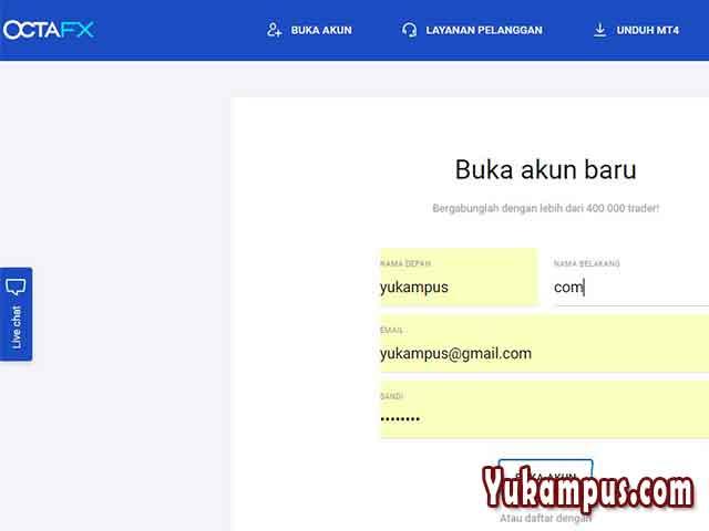 Cara Daftar Verifikasi Dan Login Akun Real Octafx Yukampus