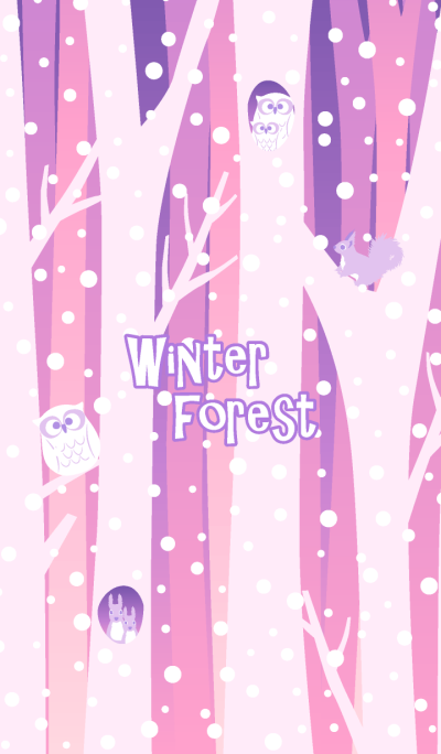 Winter forest & animals 4