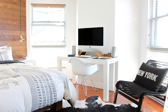 room, white walls, tiny living space