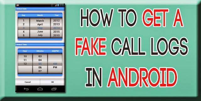 How to create Fake call logs in android