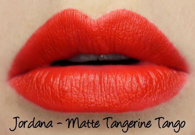 Twinsy Thursdays with Leona Carolina's Closet - Jordana Matte Tangerine Tango Lipstick