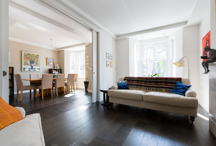 10 ideen holz schiebetür für wohnzimmer