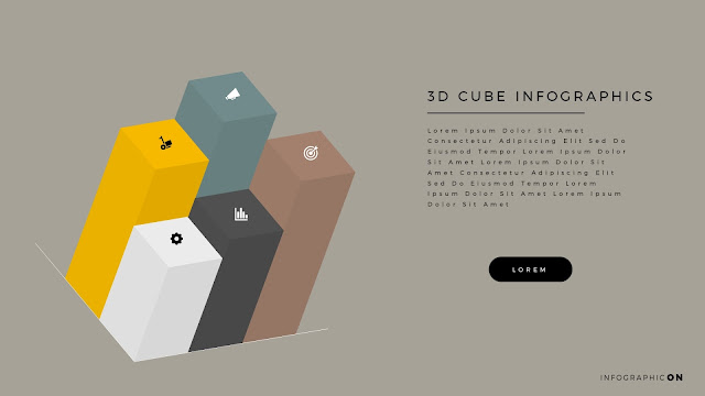 3D CUBE Infographic Elements for PowerPoint Slide 12
