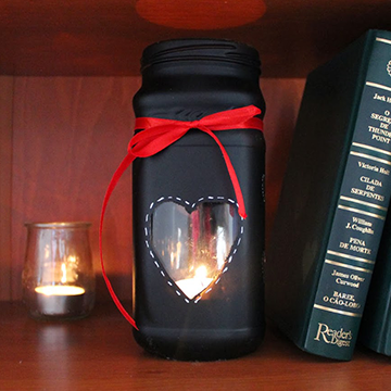 DIY Heart Candle Jar