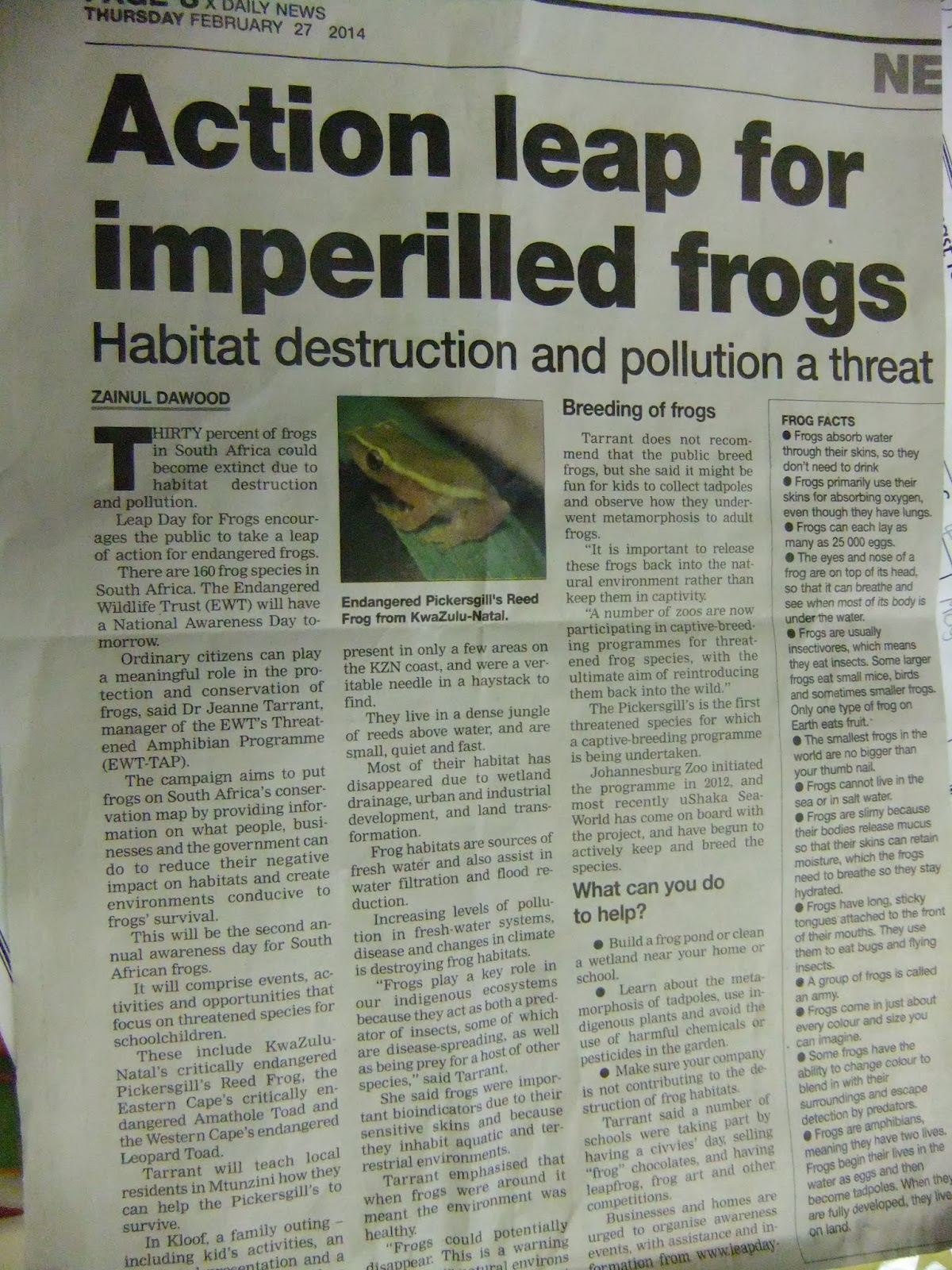 news guide with biodiversity