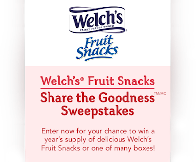 Win a Years Supply of Welch's Fruit Snacks!
