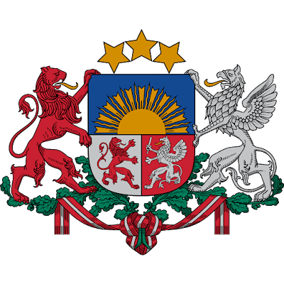 Coat of arms - Flags - Emblem - Logo Gambar Lambang, Simbol, Bendera Negara Latvia