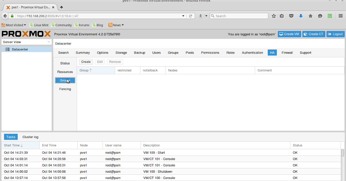Konfigurasi High Availability Cluster Proxmox 4 2 - Ahmad