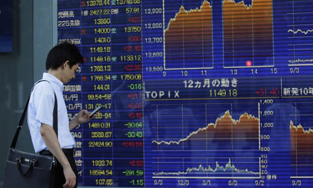 Asian stock markets plunge over US recession fears