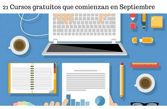 Cursos, septiembre, 2017, Aprendizaje, gratis