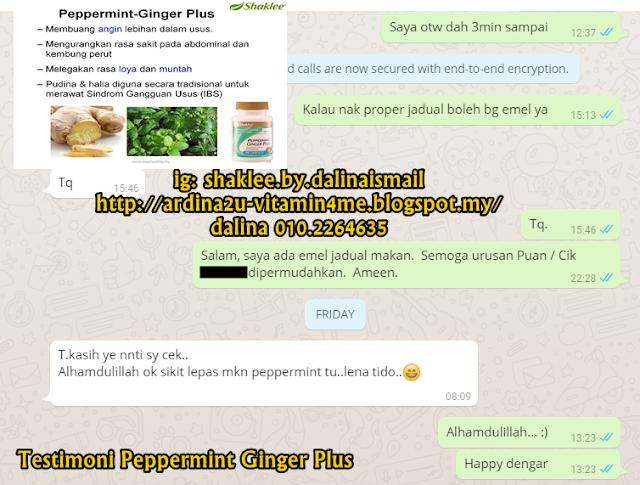 Testimoni : Peppermint Ginger Plus untuk masalah angin