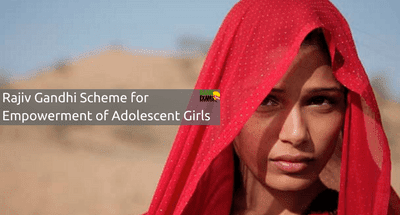 Rajiv Gandhi Scheme for Empowerment of Adolescent Girls