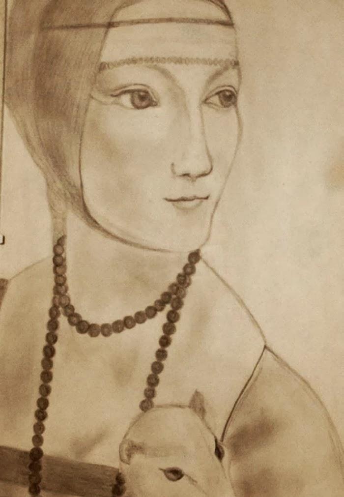 Drawing damaconermellino leonardodavinci