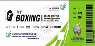tiket pertandingan Asian Games 2014