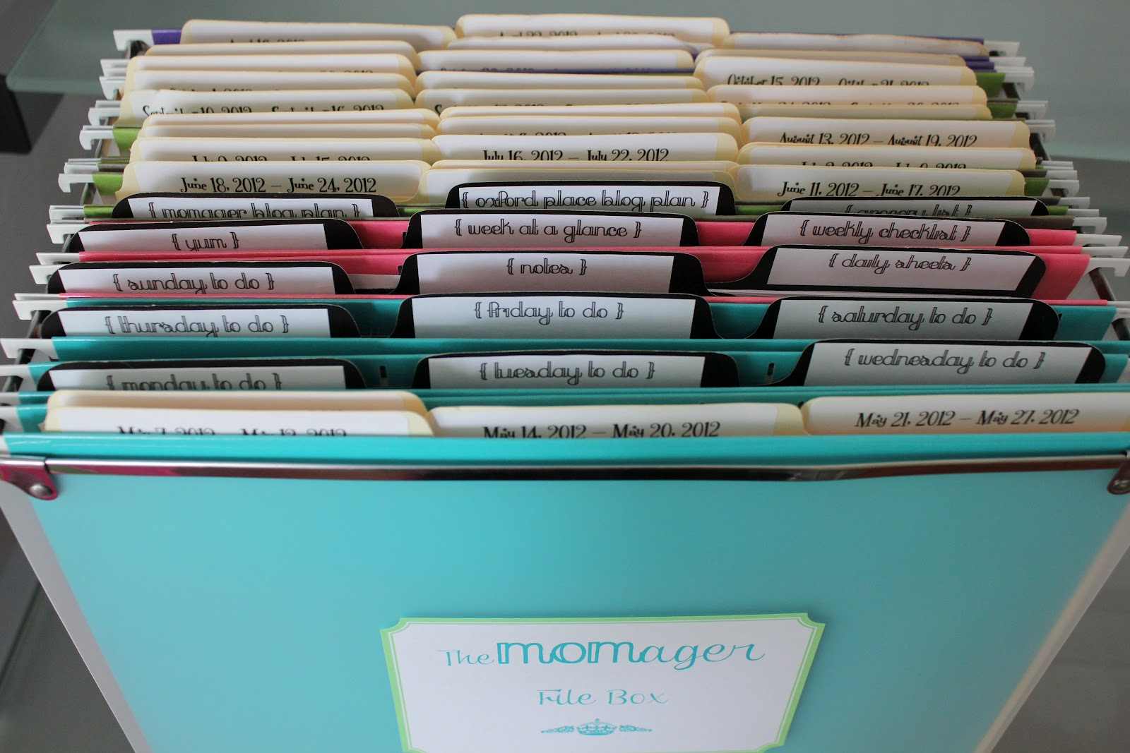 The Oxford Place Diaries Weekly Folders And The File Box
