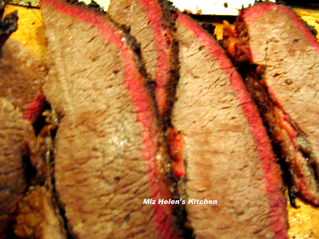 Smoked Texas Brisket at Miz Helen's Country Cottage