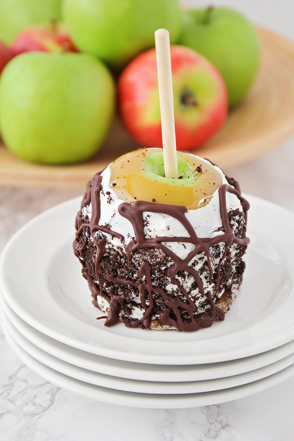 These gourmet caramel apples are made with the best homemade caramel, and taste just like the ones from the candy shop!