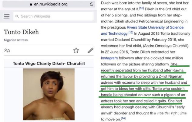 tonto dikeh wikipedia