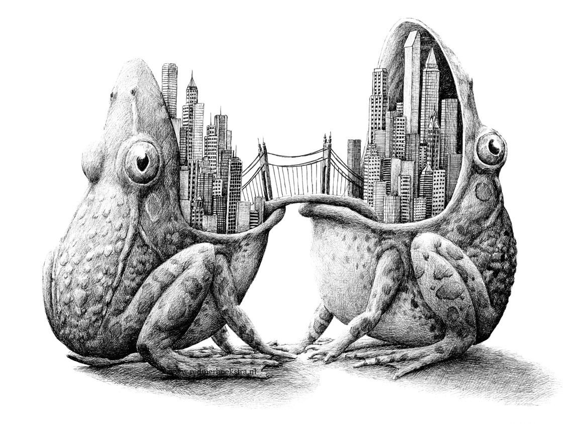 08-Frog-City-Redmer-Hoekstra-Drawing-Fantastic-and-Surreal-World-of-Hoekstra-www-designstack-co