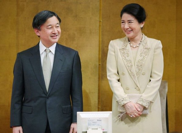 Crown Princess Masako is wearing a dress from the 1990s, or a beige dress with similar design