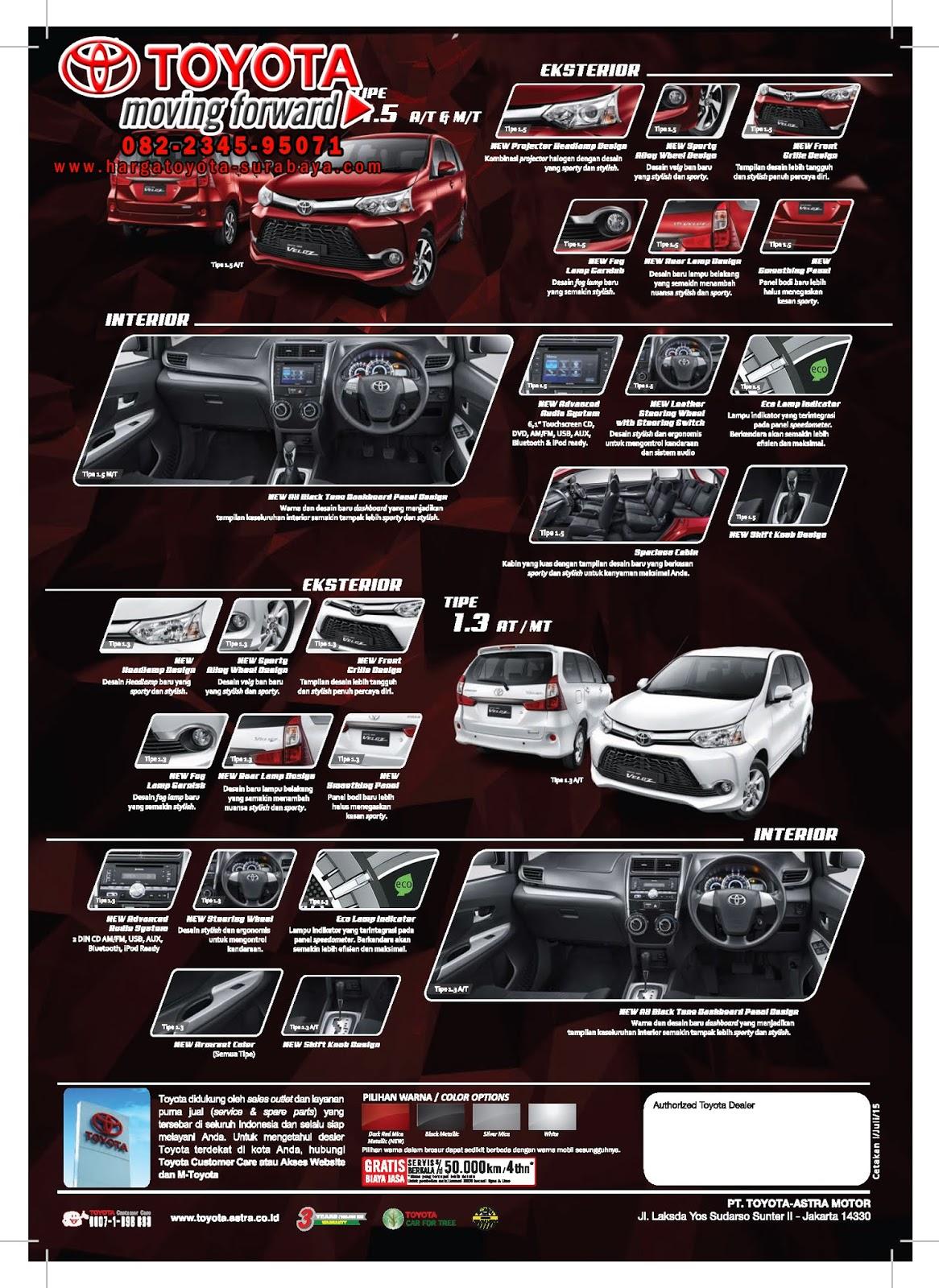 Katalog Grand New Avanza Interior Yaris Trd 2018 Brosur 2015 Harga Toyota Agya Berikut Ini Kami Cantumkan
