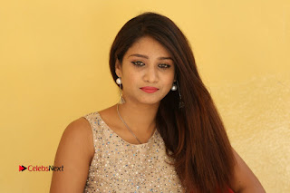 Tollywood Upcoming Actress Arthi Stills in Black Skirt at Plus 1 Movie Trailer Launch  0152.JPG