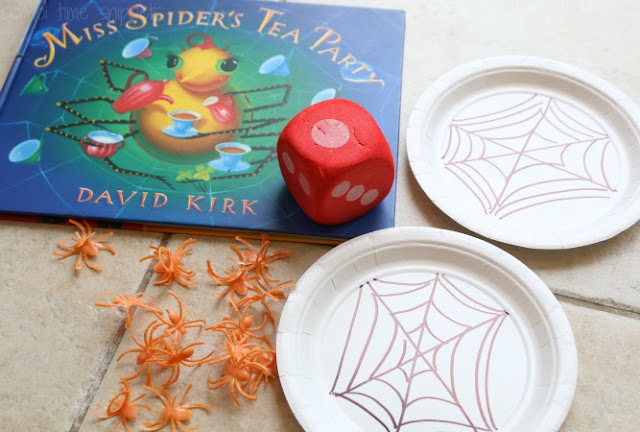 After reading Miss Spider's Tea Party, continue working on counting skills with this fun game!