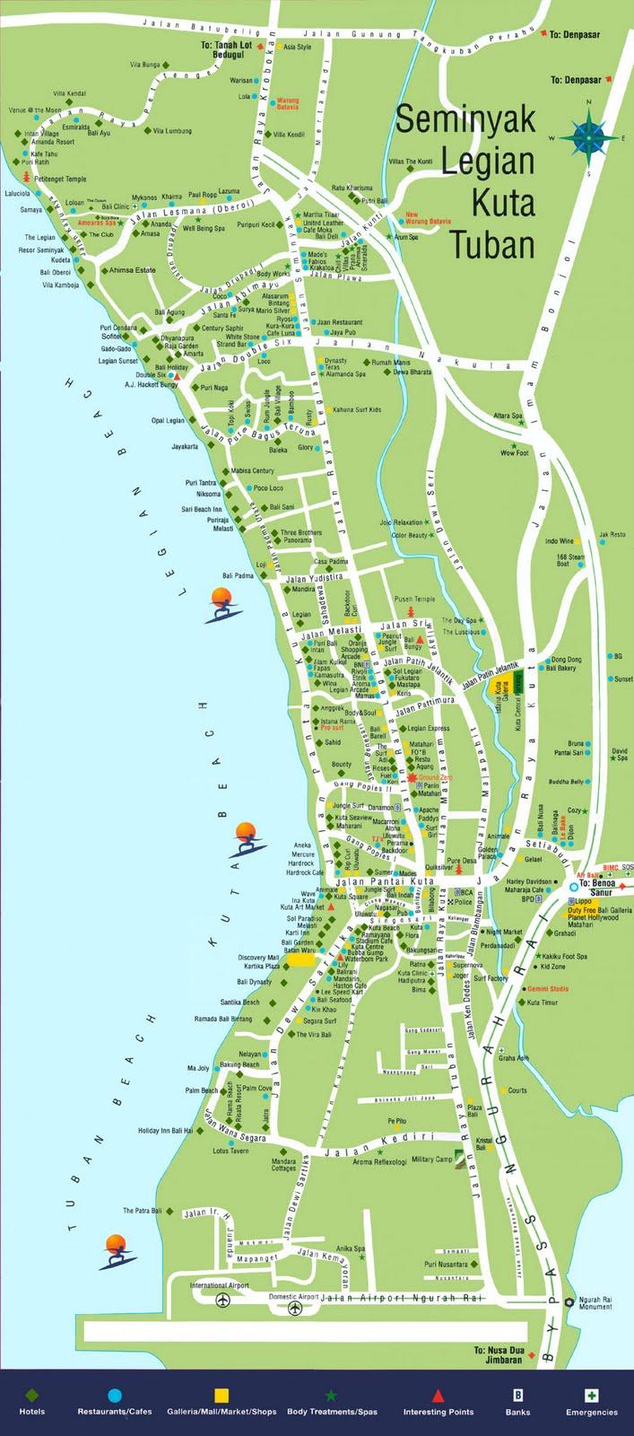 Location Map Of Plaza Bali Kuta Bali Island Bali Weather
