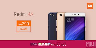 Xiaomi Redmi 4A Malaysia Price Discount Offer Promo