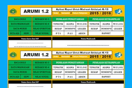 Download Aplikasi Raport SD/MI Terbaru Kurikulum 2013 Format excel