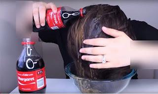 فرد الشعر بالكوكاكولا و منع تساقط الشعر