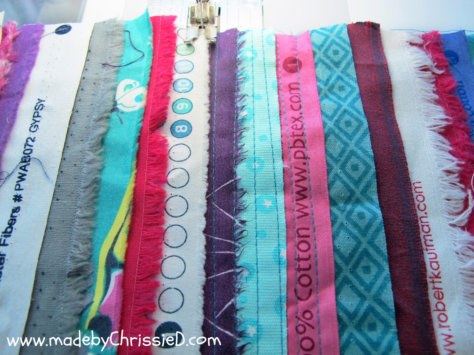 how to make selvedge fabric - a fast + easy tute by www.madebyChrissieD.com
