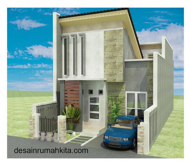 model rumah minimalis 2 lantai dilahan perkotaan yang terbatas