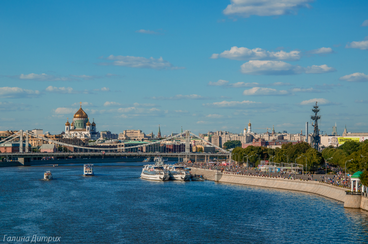 Парк Горького вид с моста фото
