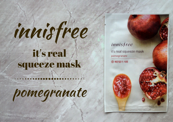ZAMASKOWANA ŚRODA Z SINGASHOP.PL | INNISFREE IT'S REAL SQUEEZE MASK POMEGRANATE