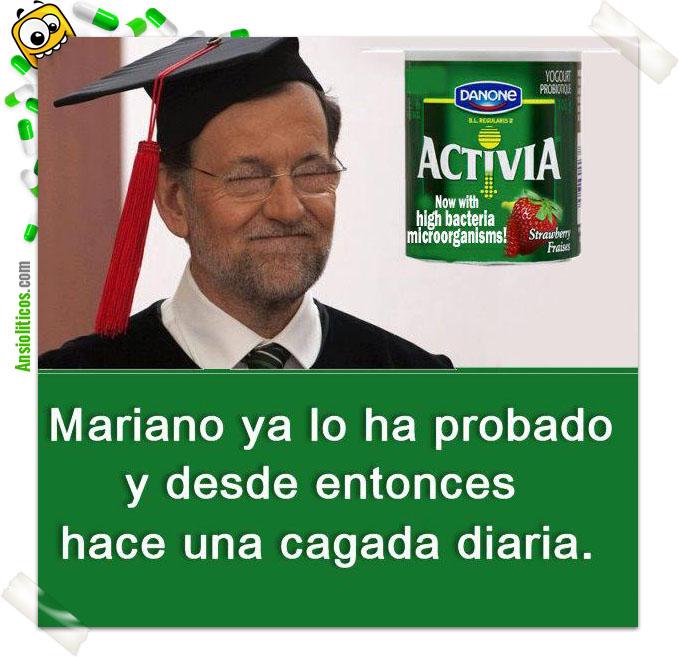 Chiste de Mariano Rajoy: Activia
